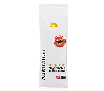 Coffee beans slowroast intense body UTZ organic