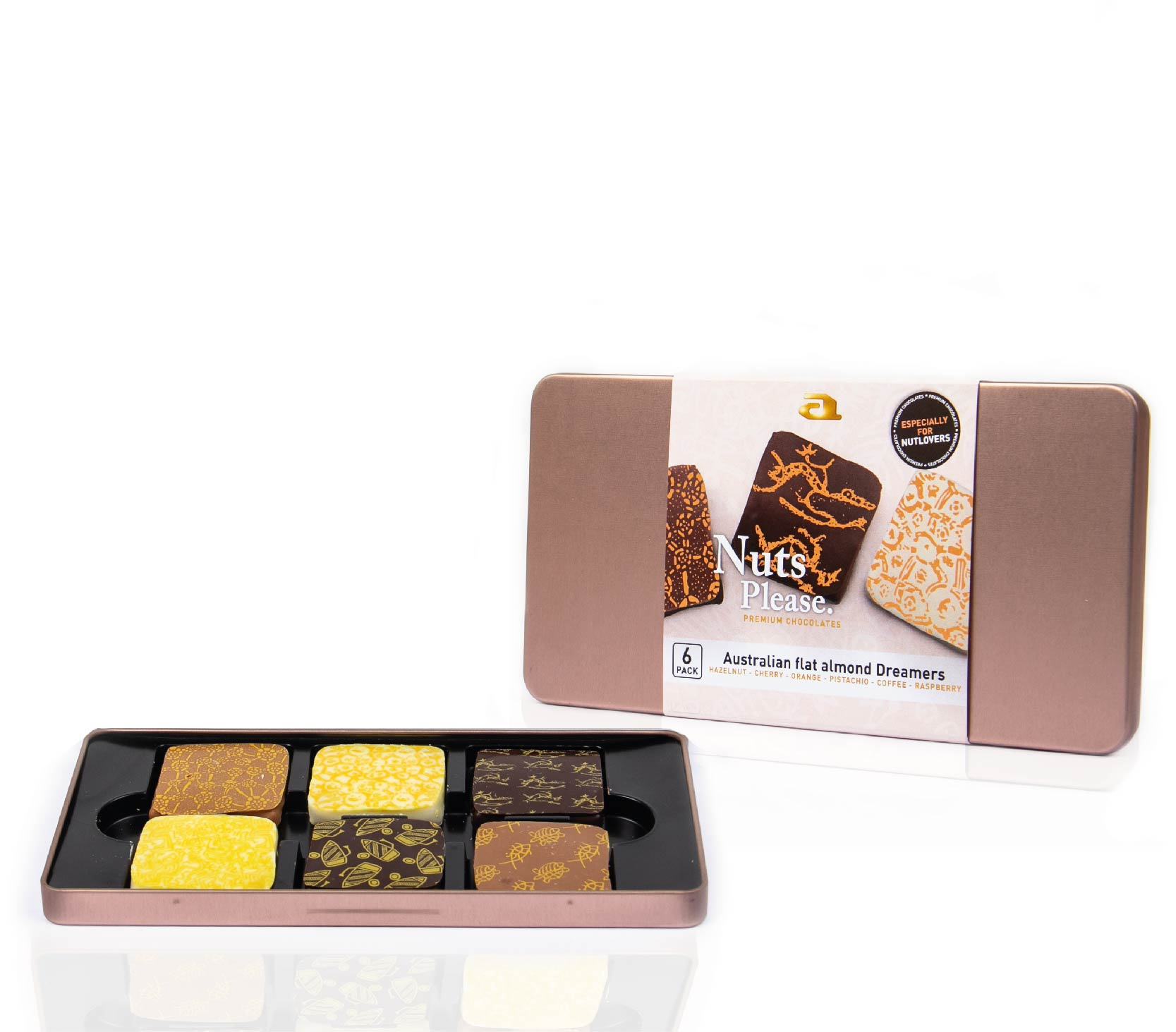 Six-pack steelbox almond dreamers mix