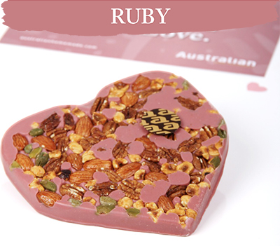 Chocolate heart ruby exclusive nuts
