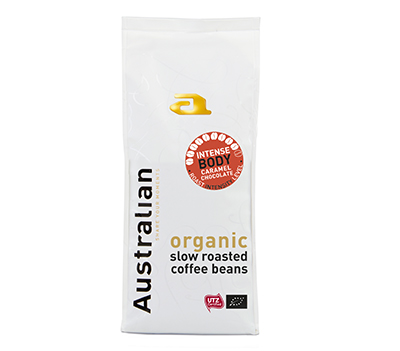Coffee beans intense roast 500 gram UTZ organic